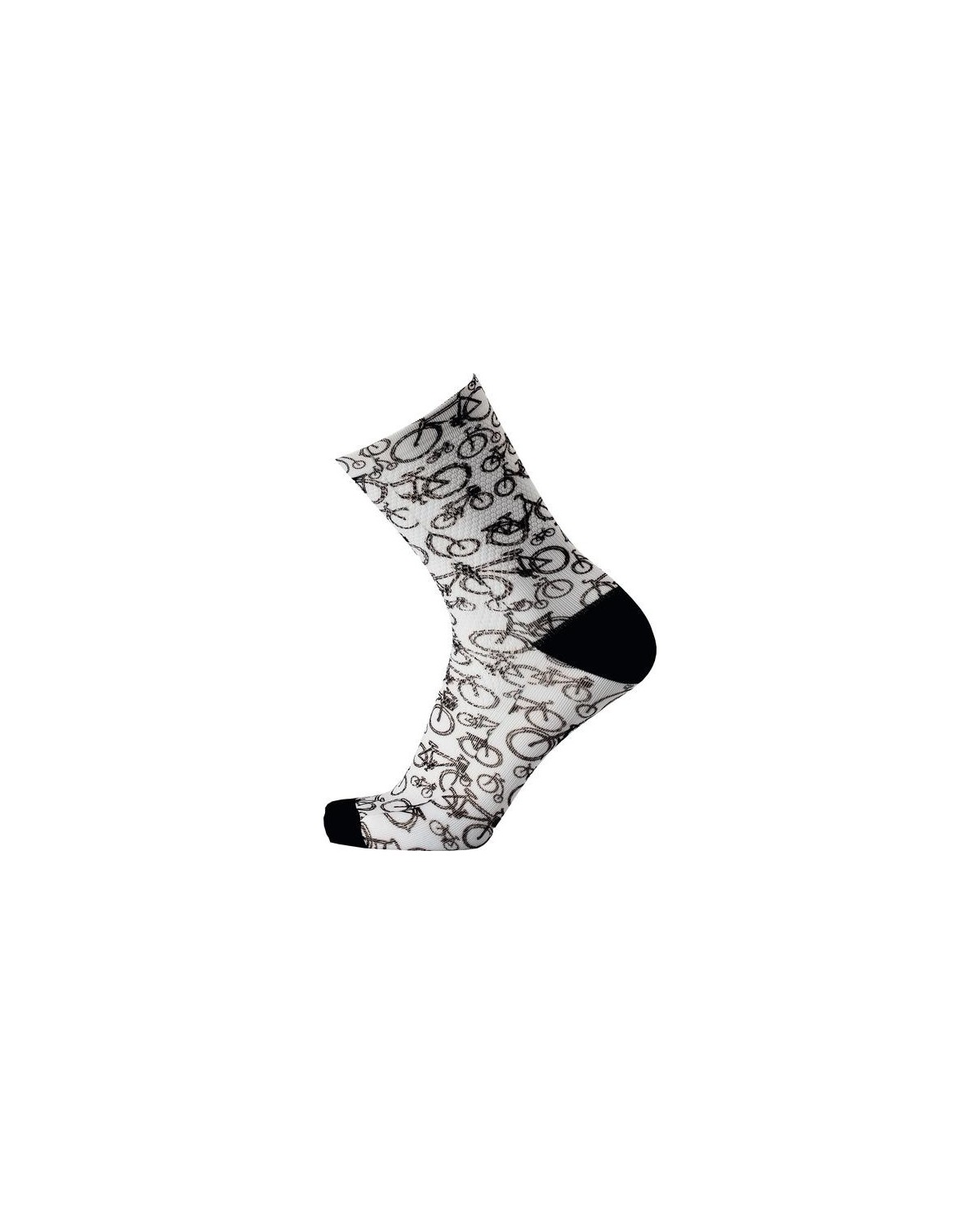 MB Wear Fahrradsocken Fun Bike White