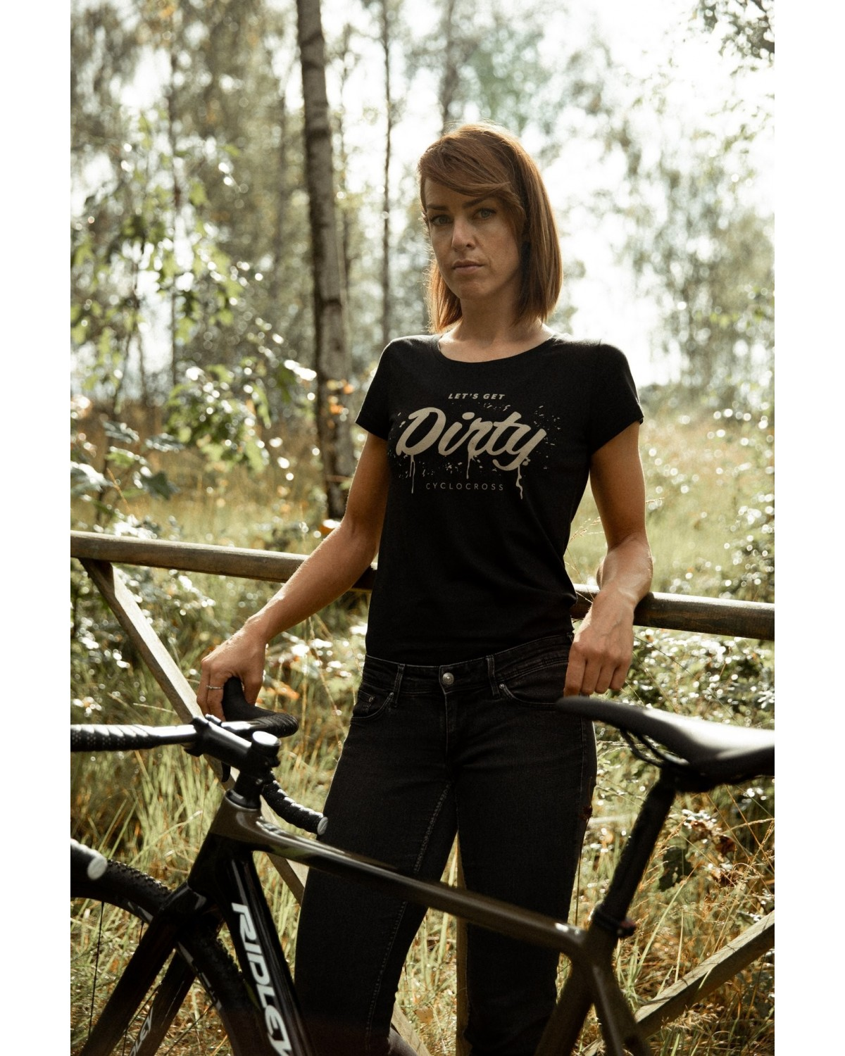 Fahrrad Damen T-Shirt Let´s get dirty Cyclocross