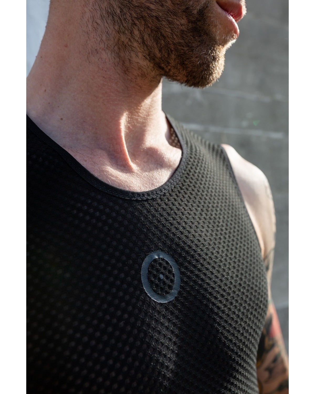 Raso Fahrradunterhemd ärmellos schwarz
