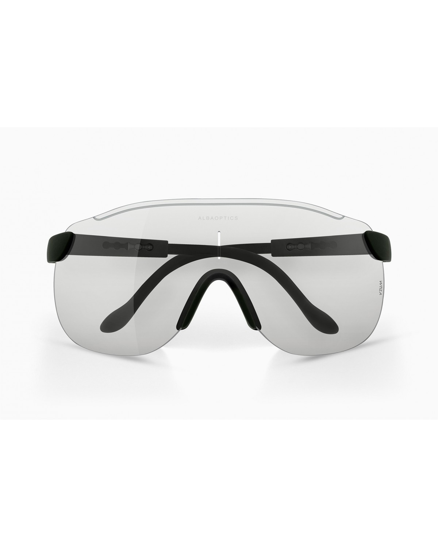 Alba Optics Stratos Radbrille schwarz | selbsttönendes Brillenglas F-Lens
