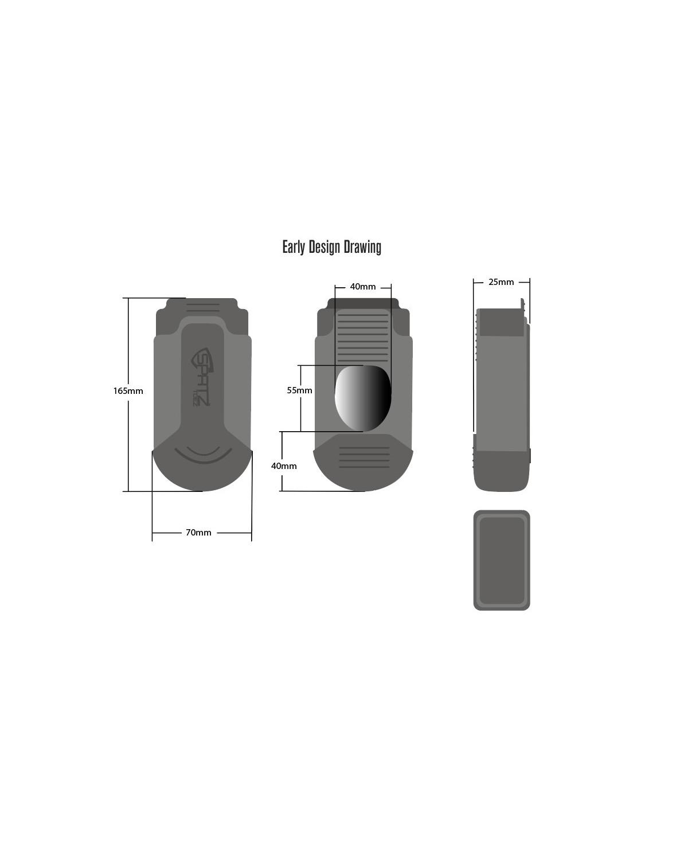 Spatzwear Silikon Zehenwärmer schwarz