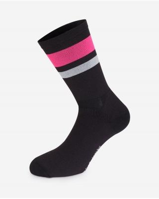 The Wonderful Socks Winter Radsocken schwarz/pink