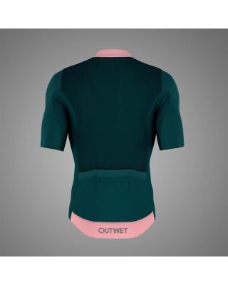 OUTWET Radtrikot kurzarm grün-pink