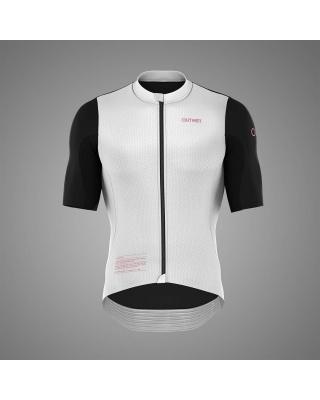 OUTWET Radtrikot kurzarm schwarz-weiß-pink