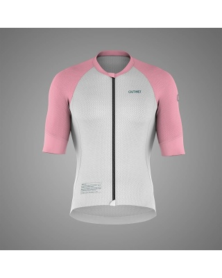 OUTWET Radtrikot SST kurzarm weiß-pink-grün