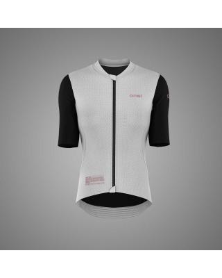 OUTWET Damen Radtrikot kurzarm schwarz-weiß-pink