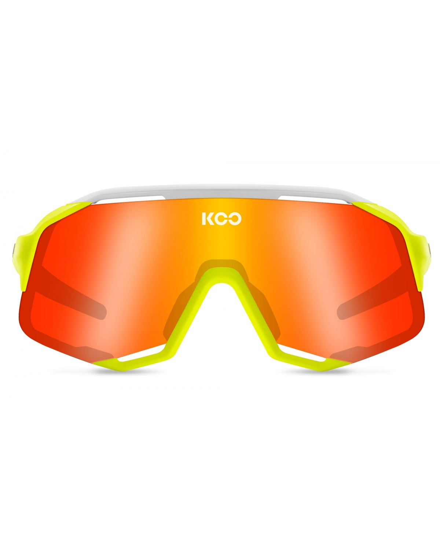 KOO Demos Sonnenbrille Yellow fluo / White