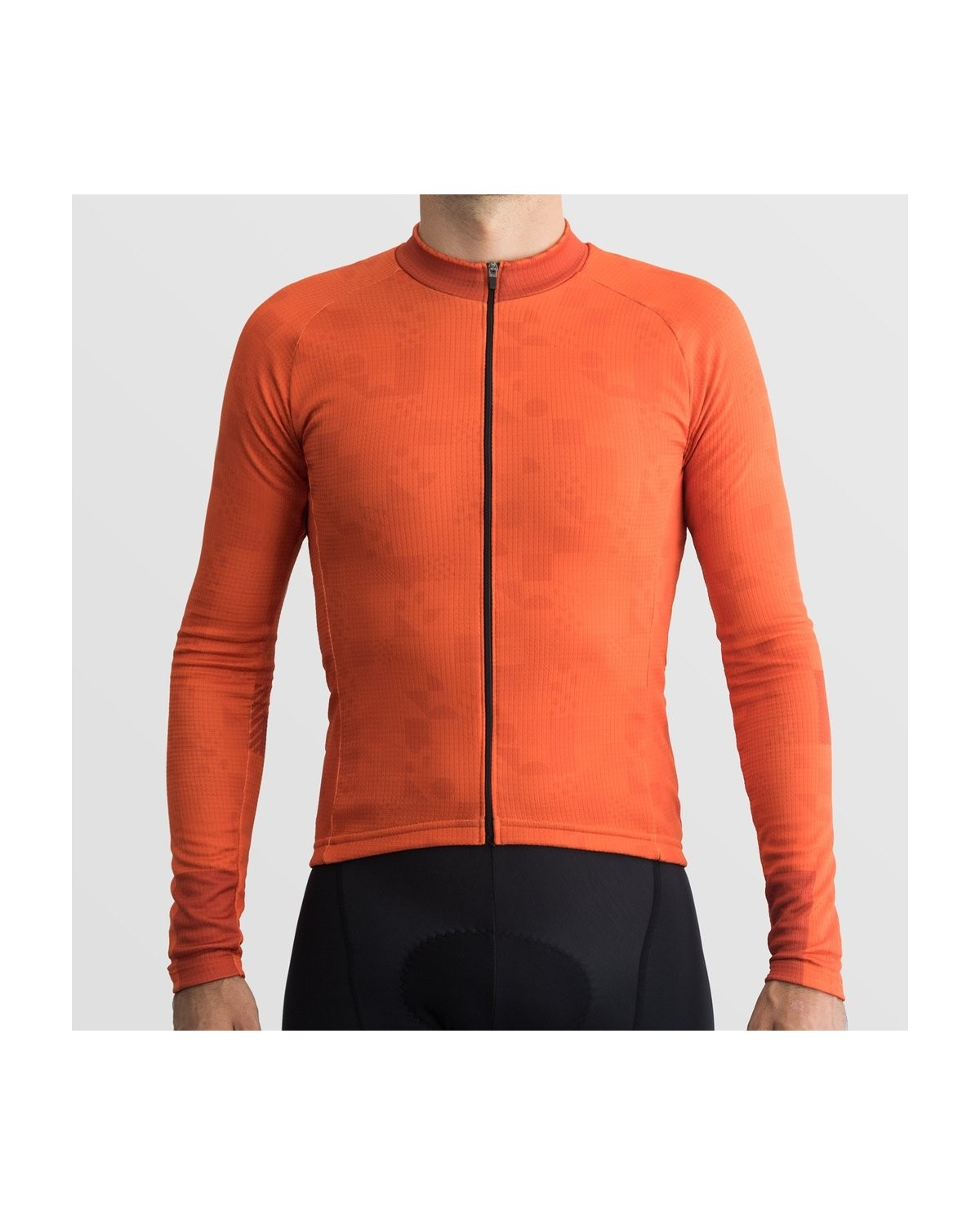 Ornot Code Thermal Radtrikot Langarm Orange
