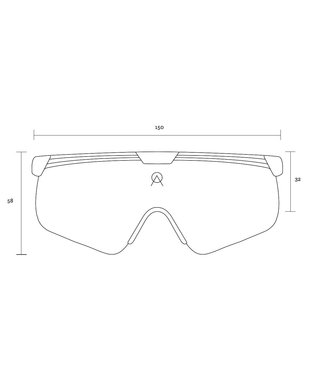 Alba Optics Delta Black Retro Radbrille