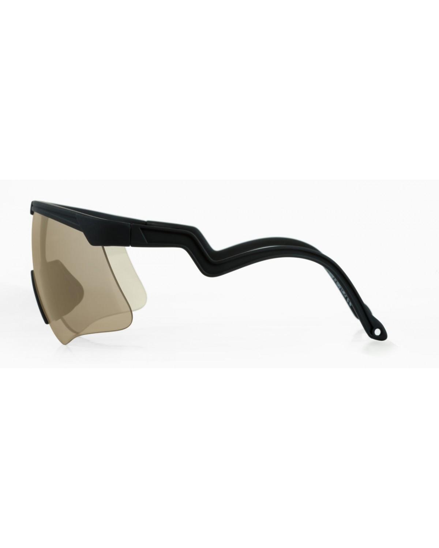 Alba Optics Delta Black Mirror Gold Retro Radbrille