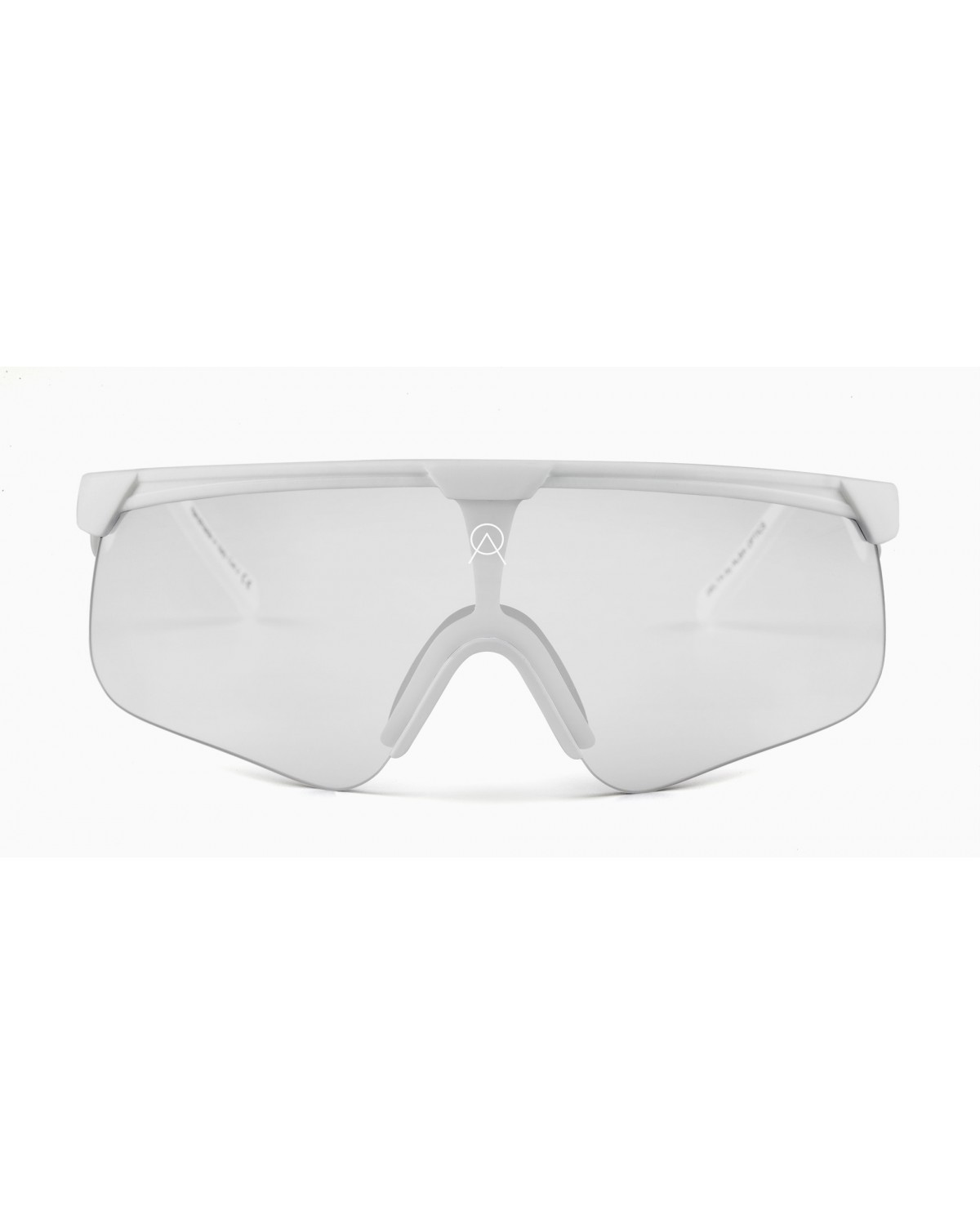 Alba Optics Delta White Mirror Silver Retro Radbrille