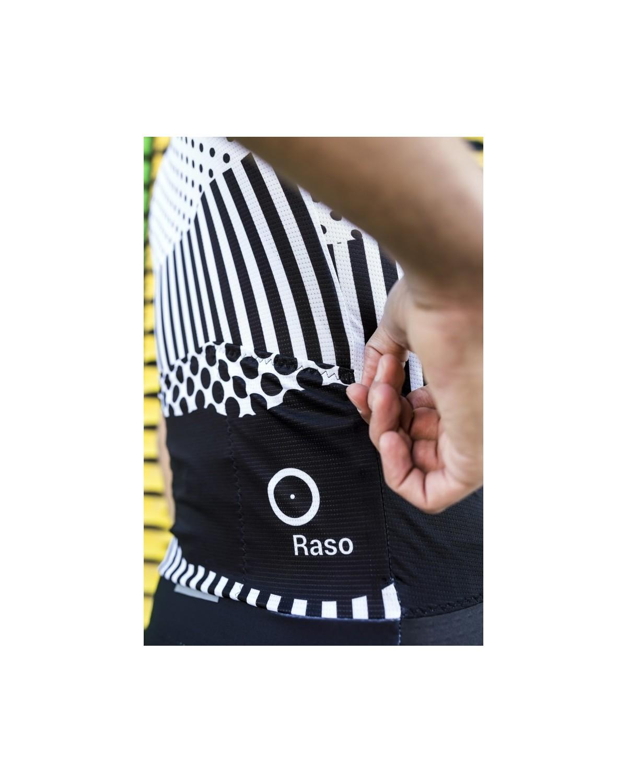 Raso Schwarz & Weiß Radtrikot