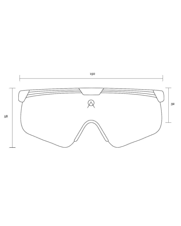 Alba Optics Delta White Mirror Silver Retro Radbrille